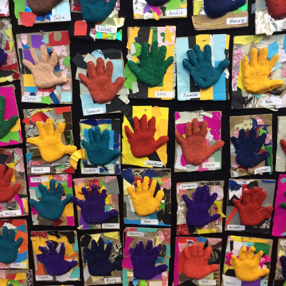 art show hands