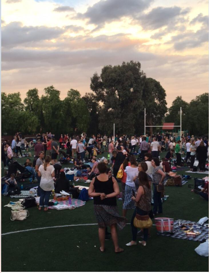 School welcome picnic sunset