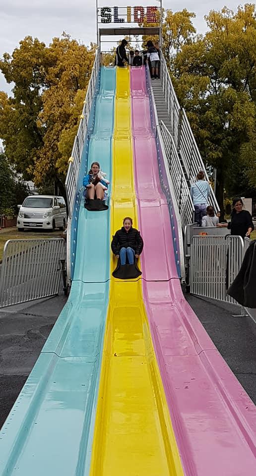 school fete giant slide
