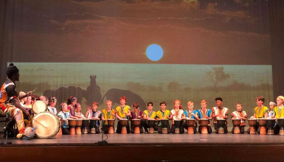 Grade 3-6 school production 2018 - Drumming