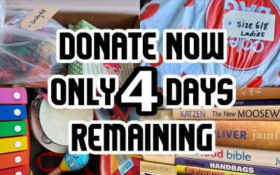 Last call for donations – only 4 days left